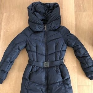Add Down Belted Shawl Collar Puffer Coat in Size 2